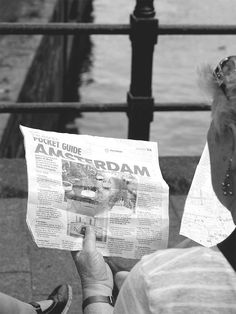 Pocket guide of Amsterdam #newspaper #photography #typography — 07/16