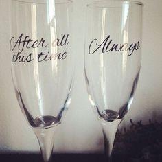 Harry Potter Wedding toast glasses