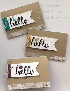 Hello stamp set, Perfectly Artistic Designer Paper