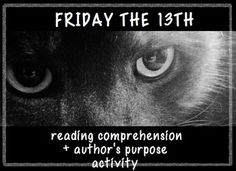 friday the 13th informational text close reading close reads