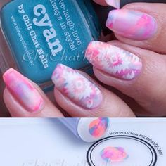 This manicure, and a photo tutorial of it is up on the blog today. Check it out on www.chitchatnails.com (direct link in profile)
