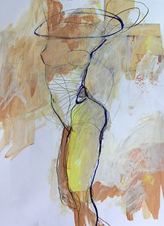 Jylian's Sketchbook from U.S artist Jylian GUSTLIN, Fantastic use of layers of colour with expressive line