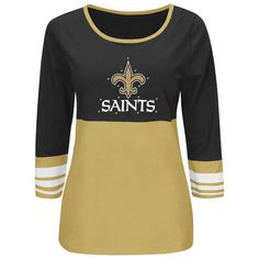 New Orleans Saints Majestic Roster Rush Ladies' Fashion Top