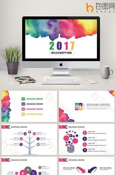 2017 simple watercolor universal PPT template#pikbest#PowerPoint #slide #keynote #presentation #powerpoint #ppt #summary #business #marketing #template #freedownload #businessplan #watercolor #clean #showcase #design Simple Powerpoint Templates, Powerpoint Slide Designs, Powerpoint Template Free, Keynote Template, Ppt Free, Flyer Template, Presentation Folder, Presentation Design, Brochure Design Layouts