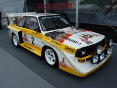 Audi Quattro S1 (E2) Group B Rally car.  AWD 500bhp+  This is what that little quattro badge on road cars is really all about.