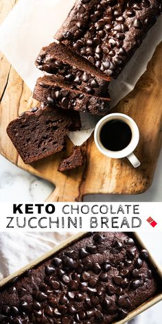 Expect from this paleo and keto chocolate zucchini bread an intensely chocolatey and moist crumb, that's bound to satisfy any and all chocolate cravings! Ketogenic Recipes, Keto Recipes, Dessert Recipes, Ketogenic Diet, Breakfast Recipes, Breakfast Ideas, Ketogenic Breakfast, Healthy Recipes, Shake Recipes