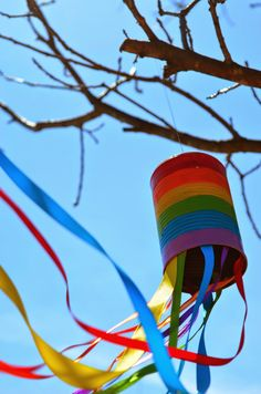 Recycled Rainbow Windsock