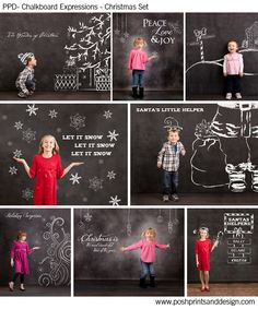 Christmas - Photoshop Template Overlays and Brushes