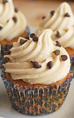 Cookie Dough Cupcakes by Fake Ginger