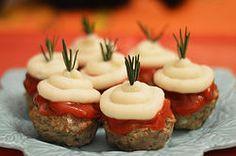 Mini-pains de viande au veau et purée de pomme de terre Mini Pains, Sushi, Ethnic Recipes, Meatloaf, Recipe, Food, Kitchens, Sushi Rolls
