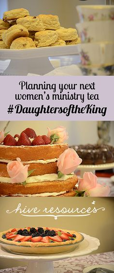 Ideas for planning your next womens ministry tea {HiveResources}