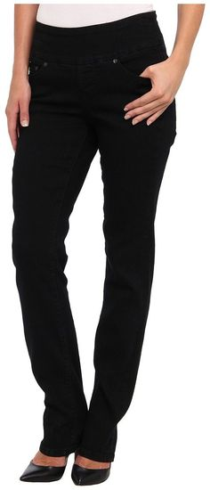 Jag Jeans Peri Pull-On Straight in Black Void (Black Void) Women's Jeans - Jag Jeans, Peri Pull-On Straight in Black Void, J2115190BKVD, Apparel Bottom Jeans, Jeans, Bottom, Apparel, Clothes Clothing, Gift, - Street Fashion And Style Ideas