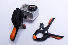 Picture of GoPro clamp-mount for multiple angles with one camera (great for cycling!)