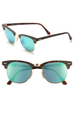 c89e6a35a385dc Ray-Ban  Flash Clubmaster  51mm Sunglasses available at  Nordstrom  Sunglasses Store