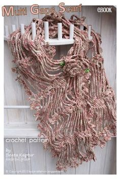 Multi Gaps Scarf crochet pattern for FREE