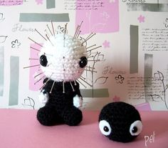 Pinhead and dust goblin by Pet, pet, pet...., via Flickr