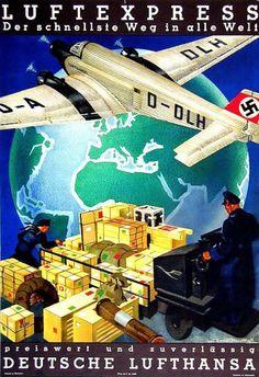 Exponat: Plakat: Luftexpress - Der schnellste Weg in alle Welt, 1930er Jahre