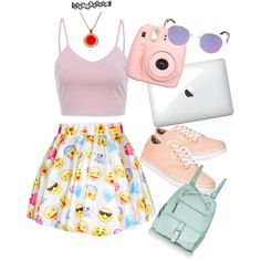 Emoji fashion on Polyvore featuring polyvore, fashion, style, AX Paris, Vans, Madden Girl and Illesteva