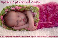 Eskimo Kiss Hooded Cocoon / Photography Prop by Tricia Drake