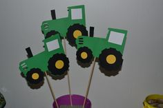 Green Tractor Farm themed  Birthday Party Table by natebarn, $5.00