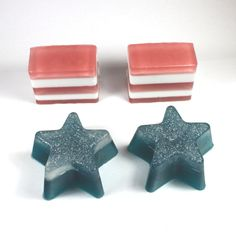 Stars and Stripes Soap Set  Memorial Day 4th of by WizardAtWork, $11.00