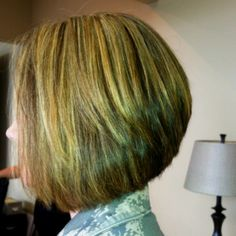A Line Bob for Thick Hair