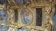 Louvre ceiling ~ Paris <--- I just inhaled sharply and held my breath