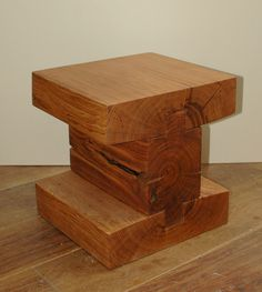 Furniture carved in tree trunks by Bertrand LACOURT, via Behance