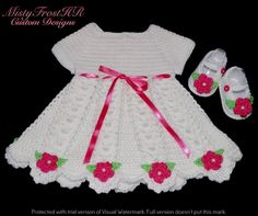 Infant Flower Dress w/ matching Shoes