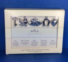 Hallmark Signature Victorian Cake Charms Set of 5 Wedding Marriage New in Box #Hallmark