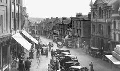 Market Jew Street, Penzance, Cornwall Woolworths came to Penzance in April opening on Market Jew Street. The store was extended in Below is a 1955 photo – Woolwor… Penzance Cornwall, Engine House, Iron Age, St Ives, Medieval Castle, Old Photos, Times Square, Past, Street View