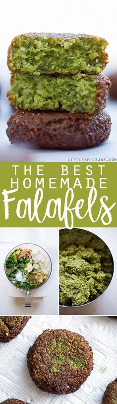 The Best Homemade Falafels - Traditional restaurant style falafels -- made at home! These tiny falafels are super easy to make at home and are loaded with traditional flavors like sesame seeds, tons of parsley and a hint of cumin. Stop paying for falafels Entree Vegan, Vegan Vegetarian, Vegetarian Recipes, Cooking Recipes, Healthy Recipes, Kitchen Recipes, Cooking Tips, Lebanese Recipes, Jewish Recipes