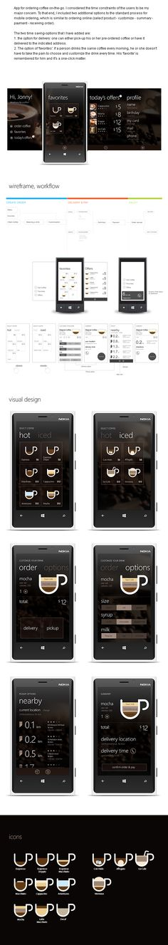 Windows app for ordering coffee on-the-go.