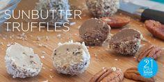 Sunbutter Truffles | 21-Day Sugar Detox