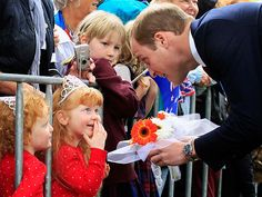 Kate & Will Fly High on Tour Day 4 | PRETTY PRINCESSES | Meanwhile, Prince William charms two darling girls dressed as princesses while visiting a war memorial in Seymour Square.