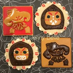 Disney's Moana decorated sugar cookies by Sweet Jenny Belle