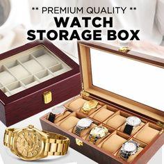 [S$8.88](▼83%)[Festive SALE]★ 5/6/8/10/12/20/24 Slots Display Storage Box for Watches or Jewelry/PVC or Crocodile Skin Options/Luxury Watch Case-Modern Design Watch Storage Box /10 Slot Luxury Watch case ★