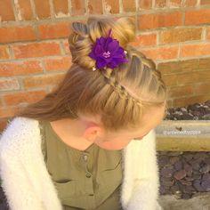 #buns # dutchbraids #frenchbraid #hair #styles