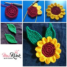 337 Besten Häkelblumen Bilder Auf Pinterest Crochet Flowers