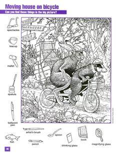 Search and find - Cerca e trova Plusieurs activités disponibles Mais Hidden Object Puzzles, Hidden Picture Puzzles, Hidden Objects, Colouring Pages, Coloring Sheets, Coloring Books, Search And Find, Paper Games, Hidden Pictures