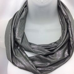 Check out Grey knit scarf , Winter neckwear, Birthday gift, Gift for mom, Christmas gift, Gift under 5, Gift for Him, Green Grey neck warmer on blingscarves