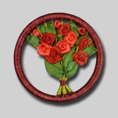 Red Rose Bouquet Brooch Kit