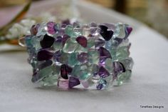Flourite Wrap Bracelet with Silver Plated by timefliestreasures, $22.00