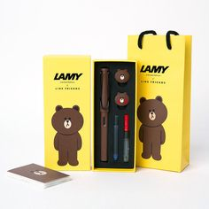 Restocked LAMY x LINE FRIENDS Safari Fountain Pen BROWN Bear Limited Edition #LamyxLineFriends