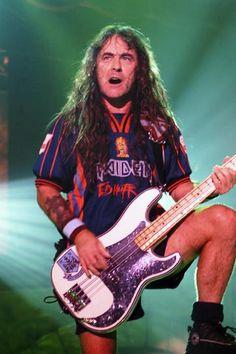 Iron maiden leader, bass player and main composer. Bruce Dickinson, Power Metal, Death Metal, Black Metal, Metal Horns, Judas Priest, Heavy Metal Bands, Black Sabbath, Def Leppard