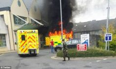 Irish patient dies after ambulance explodes outside hospital (photos)   An Irish patient lost his life yesterday after an ambulance he was in exploded outside a General hospital.  The man believed to be about 70 was in the back of the ambulance when the explosion happened at about 1.30pm outside Naas General Hospital. Two paramedics were also burned in the fireball which may have ignited after an oxygen tank exploded in the back of the ambulance. An eyewitness told how she heard a big loud…