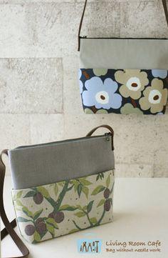 ファスナー付きの縫わないショルダーバッグを作りました。最近、いつも持ち歩いていますが、この薄さがとても気に入っています。お道具バッグと同じ奥行きの5.5c... Handmade Crafts, Diy And Crafts, Japanese Bag, Crossbody Bag, Tote Bag, Quilted Bag, Zipper Bags, Sewing Techniques, Beautiful Bags