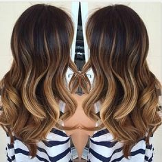 bayalage ombre.. like how some highlights go higher on the crown.. not all one straight line