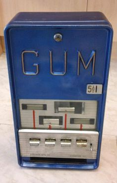 much coveted vintage gum vending machine for sale on ebay. a cwtch and a cuppa