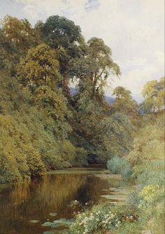 indubio:  catonhottinroof: Harry Sutton Palmer  (1854 — 1933)     The River Mole, near Dorking